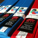 "SHUREIDO Belt: Red – Blue - Black ""WKF Approved"" Promo Rp. 720.000"